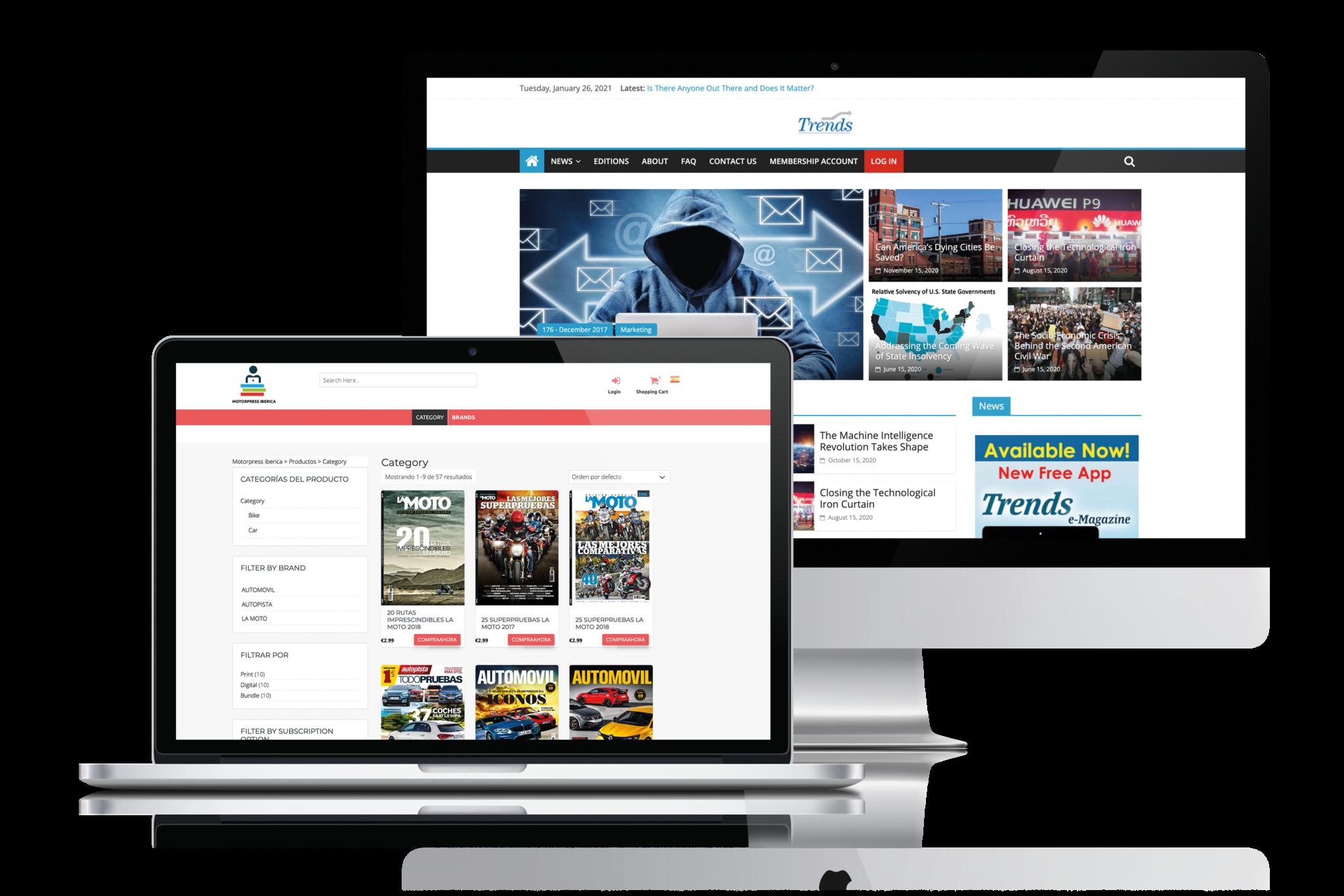 websites voor uitgevers website uitgeven